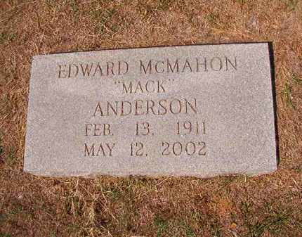 "ANDERSON, EDWARD MCMAHON ""MACK"" - Columbia County, Arkansas | EDWARD MCMAHON ""MACK"" ANDERSON - Arkansas Gravestone Photos"