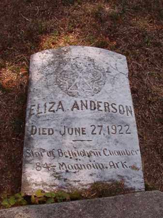 ANDERSON, ELIZA - Columbia County, Arkansas | ELIZA ANDERSON - Arkansas Gravestone Photos