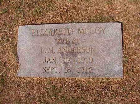 ANDERSON, ELIZABETH - Columbia County, Arkansas | ELIZABETH ANDERSON - Arkansas Gravestone Photos