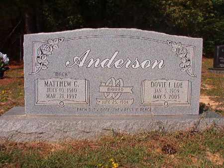 LOE ANDERSON, DOVIE I - Columbia County, Arkansas | DOVIE I LOE ANDERSON - Arkansas Gravestone Photos