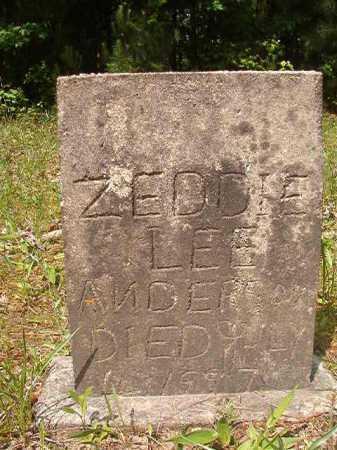 ANDERSON, ZEDDIE LEE - Columbia County, Arkansas | ZEDDIE LEE ANDERSON - Arkansas Gravestone Photos