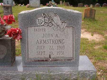 ARMSTRONG, JOHN A - Columbia County, Arkansas   JOHN A ARMSTRONG - Arkansas Gravestone Photos