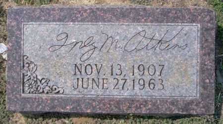 ATKINS, INEZ M - Columbia County, Arkansas | INEZ M ATKINS - Arkansas Gravestone Photos