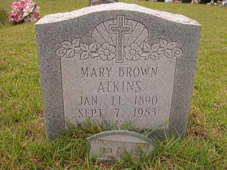 BROWN ATKINS, MARY - Columbia County, Arkansas   MARY BROWN ATKINS - Arkansas Gravestone Photos