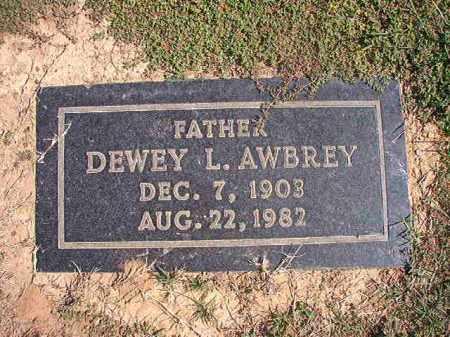 AWBREY, DEWEY L - Columbia County, Arkansas | DEWEY L AWBREY - Arkansas Gravestone Photos