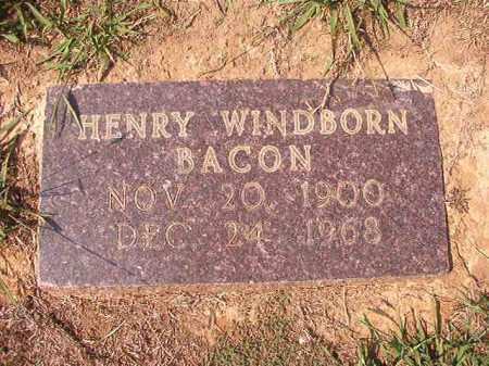 BACON, HENRY WINDBORN - Columbia County, Arkansas | HENRY WINDBORN BACON - Arkansas Gravestone Photos