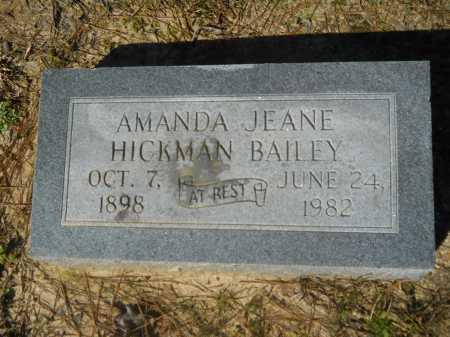 HICKMAN BAILEY, AMANDA JEANE - Columbia County, Arkansas | AMANDA JEANE HICKMAN BAILEY - Arkansas Gravestone Photos