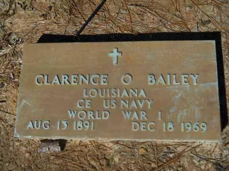 BAILEY  (VETERAN WWI), CLARENCE  O - Columbia County, Arkansas   CLARENCE  O BAILEY  (VETERAN WWI) - Arkansas Gravestone Photos