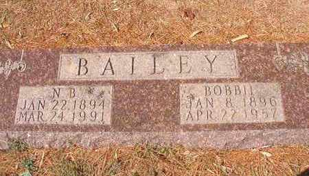 BAILEY, N B - Columbia County, Arkansas | N B BAILEY - Arkansas Gravestone Photos