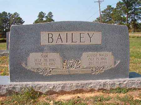 BAILEY, SAM - Columbia County, Arkansas | SAM BAILEY - Arkansas Gravestone Photos