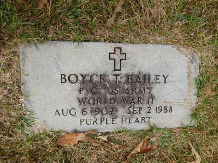 BAILEY (VETERAN WWII), BOYCE T - Columbia County, Arkansas | BOYCE T BAILEY (VETERAN WWII) - Arkansas Gravestone Photos