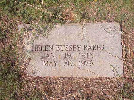 BUSSEY BAKER, HELEN - Columbia County, Arkansas   HELEN BUSSEY BAKER - Arkansas Gravestone Photos