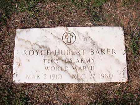 BAKER (VETERAN WWII), ROYCE HUBERT - Columbia County, Arkansas | ROYCE HUBERT BAKER (VETERAN WWII) - Arkansas Gravestone Photos