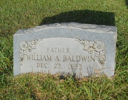 BALDWIN, WILLIAM A - Columbia County, Arkansas | WILLIAM A BALDWIN - Arkansas Gravestone Photos