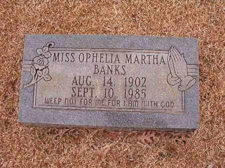 BANKS, OPHELIA MARTHA - Columbia County, Arkansas   OPHELIA MARTHA BANKS - Arkansas Gravestone Photos