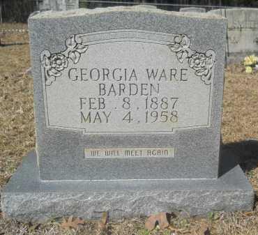 WARE BARDEN, GEORGIA - Columbia County, Arkansas | GEORGIA WARE BARDEN - Arkansas Gravestone Photos