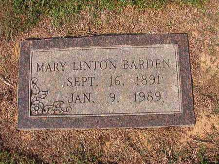BARDEN, MARY LINTON - Columbia County, Arkansas | MARY LINTON BARDEN - Arkansas Gravestone Photos