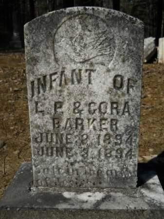 BARKER, INFANT - Columbia County, Arkansas | INFANT BARKER - Arkansas Gravestone Photos