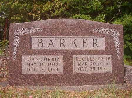 BARKER, JOHN CORBIN - Columbia County, Arkansas | JOHN CORBIN BARKER - Arkansas Gravestone Photos