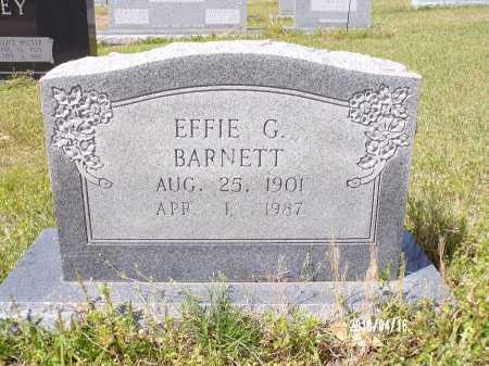 BARNETT, EFFIE G - Columbia County, Arkansas | EFFIE G BARNETT - Arkansas Gravestone Photos