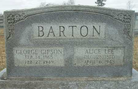 BARTON, ALICE LEE - Columbia County, Arkansas | ALICE LEE BARTON - Arkansas Gravestone Photos