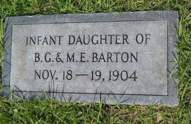 BARTON, INFANT - Columbia County, Arkansas   INFANT BARTON - Arkansas Gravestone Photos
