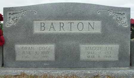 BARTON, MAGGIE LEE - Columbia County, Arkansas | MAGGIE LEE BARTON - Arkansas Gravestone Photos