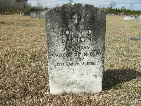 BARTON (VETERAN), JOHN D - Columbia County, Arkansas | JOHN D BARTON (VETERAN) - Arkansas Gravestone Photos