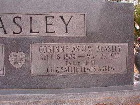 ASKEW BEASLEY, CORINNE - Columbia County, Arkansas   CORINNE ASKEW BEASLEY - Arkansas Gravestone Photos