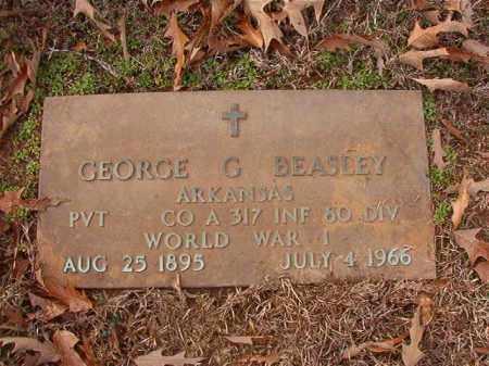 BEASLEY (VETERAN WWI), GEORGE G - Columbia County, Arkansas   GEORGE G BEASLEY (VETERAN WWI) - Arkansas Gravestone Photos