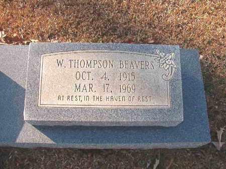 BEAVERS, W THOMPSON - Columbia County, Arkansas | W THOMPSON BEAVERS - Arkansas Gravestone Photos