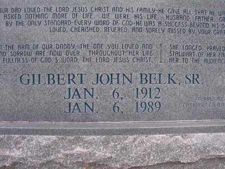 BELK, SR, GILBERT JOHN - Columbia County, Arkansas   GILBERT JOHN BELK, SR - Arkansas Gravestone Photos