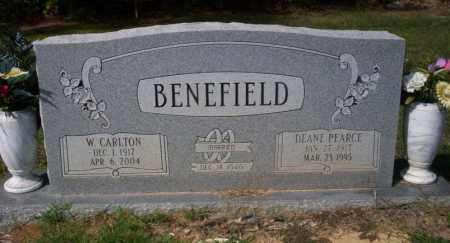BENEFIELD, W. CARLTON - Columbia County, Arkansas | W. CARLTON BENEFIELD - Arkansas Gravestone Photos