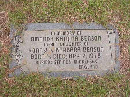 BENSON, AMANDA KATRINA - Columbia County, Arkansas   AMANDA KATRINA BENSON - Arkansas Gravestone Photos