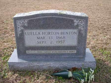 HORTON BENTON, LUELLA - Columbia County, Arkansas   LUELLA HORTON BENTON - Arkansas Gravestone Photos