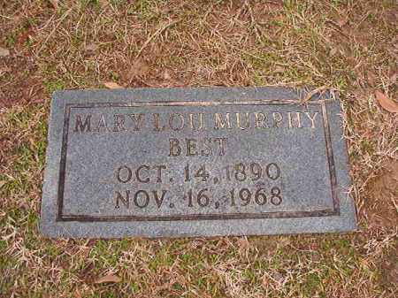 MURPHY BEST, MARY LOU - Columbia County, Arkansas   MARY LOU MURPHY BEST - Arkansas Gravestone Photos