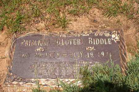 GLOVER BIDDLE, PRISCILLA - Columbia County, Arkansas | PRISCILLA GLOVER BIDDLE - Arkansas Gravestone Photos