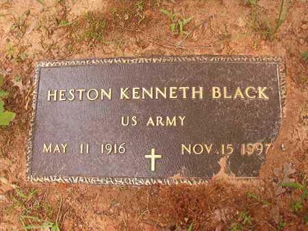BLACK (VETERAN), HESTON KENNETH - Columbia County, Arkansas | HESTON KENNETH BLACK (VETERAN) - Arkansas Gravestone Photos