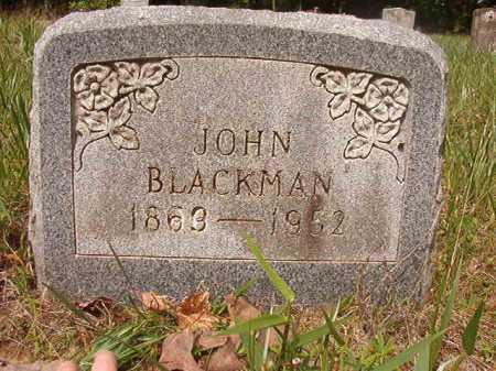 BLACKMAN, JOHN - Columbia County, Arkansas | JOHN BLACKMAN - Arkansas Gravestone Photos