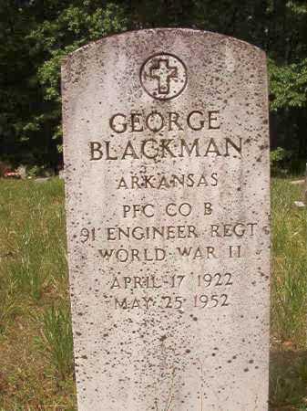 BLACKMAN (VETERAN WWII), GEORGE - Columbia County, Arkansas | GEORGE BLACKMAN (VETERAN WWII) - Arkansas Gravestone Photos