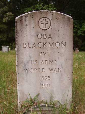 BLACKMON (VETERAN WWI), OBA - Columbia County, Arkansas | OBA BLACKMON (VETERAN WWI) - Arkansas Gravestone Photos
