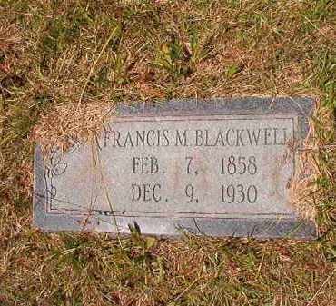 "BLACKWELL, FRANCIS MARION ""FRANK"" - Columbia County, Arkansas 