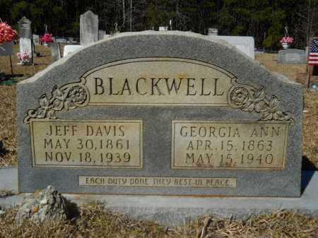 BLACKWELL, JEFF DAVIS - Columbia County, Arkansas | JEFF DAVIS BLACKWELL - Arkansas Gravestone Photos