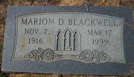 BLACKWELL, MARION D - Columbia County, Arkansas | MARION D BLACKWELL - Arkansas Gravestone Photos