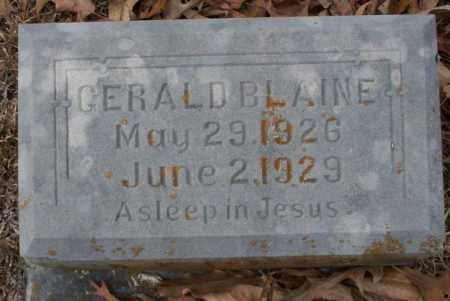 BLAINE, GERALD - Columbia County, Arkansas   GERALD BLAINE - Arkansas Gravestone Photos