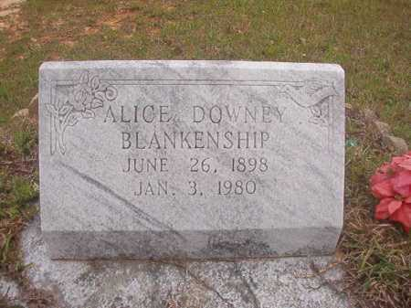DOWNEY BLANKENSHIP, ALICE - Columbia County, Arkansas   ALICE DOWNEY BLANKENSHIP - Arkansas Gravestone Photos