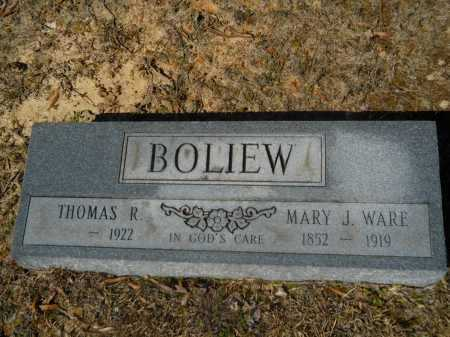 WARE BOLIEW, MARY J - Columbia County, Arkansas | MARY J WARE BOLIEW - Arkansas Gravestone Photos