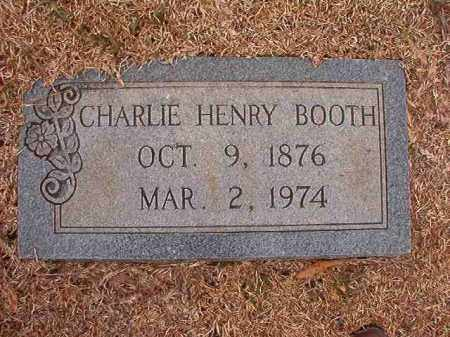 BOOTH, CHARLIE HENRY - Columbia County, Arkansas | CHARLIE HENRY BOOTH - Arkansas Gravestone Photos