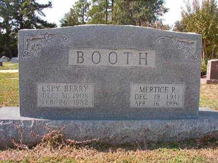 BOOTH, MERTICE R - Columbia County, Arkansas | MERTICE R BOOTH - Arkansas Gravestone Photos