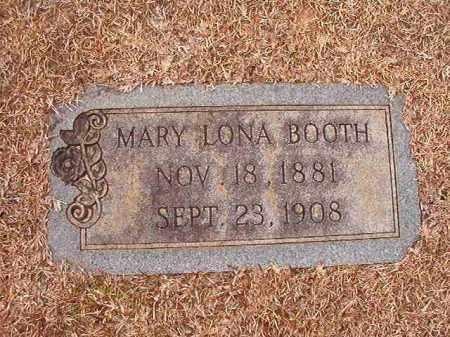 BOOTH, MARY LONA - Columbia County, Arkansas | MARY LONA BOOTH - Arkansas Gravestone Photos